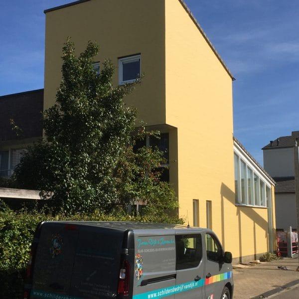 Sauswerk gevel Beuningen - Schildersbedrijf J. van Dijk & Zn.